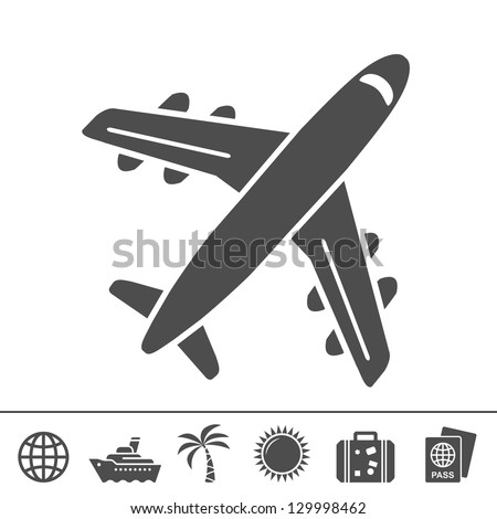 Travel icons. Vector illustration - stock vector
