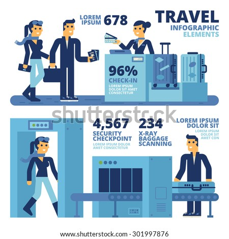 Travel Infographic Elements - stock vector