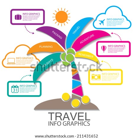 Travel infographics - stock vector