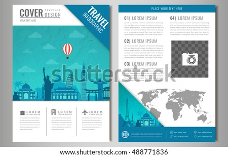 Two Page Brochure Template Flyer Design Stock Vector 384167881