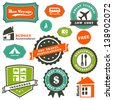 travel labels set - stock vector