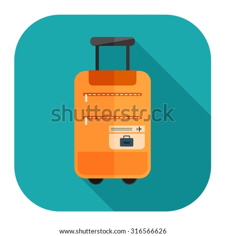 travel luggage icon - stock vector