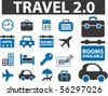 travel new signs. vector - stock vector