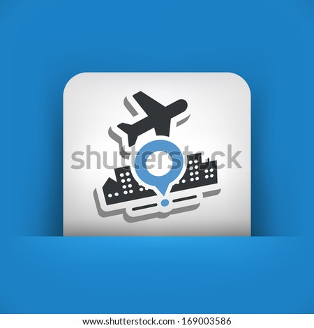 Travel point map - stock vector