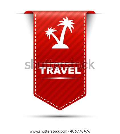 travel, red vector travel, red banner travel, element travel, sign travel, design travel, illustration travel, picture travel, icon travel, travel eps10 - stock vector