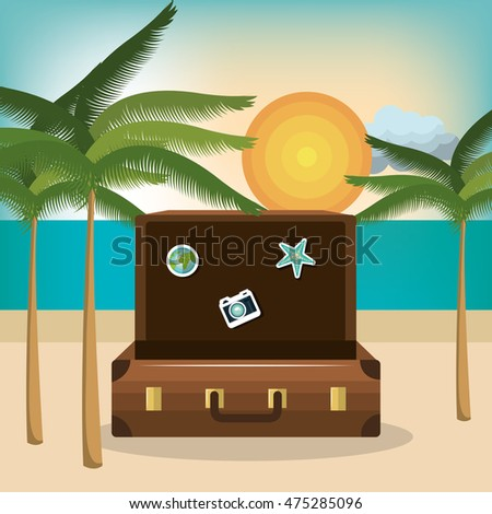 travel set equipment isolated icons vector illustration design