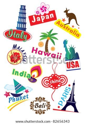 Travel Sticker - stock vector