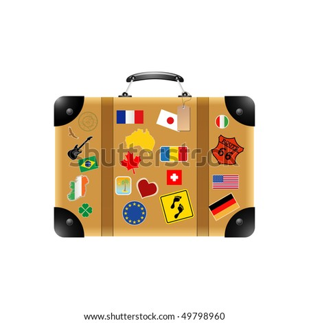 Travel suitcase - stock vector