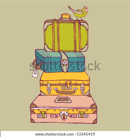 Travel Suitcases - stock vector