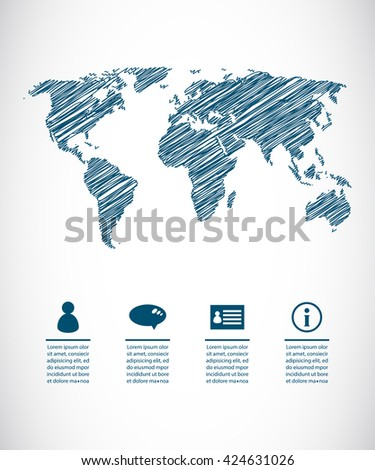 travel the world, abstract background - stock vector