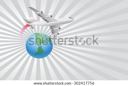 Travel The World Background - stock vector