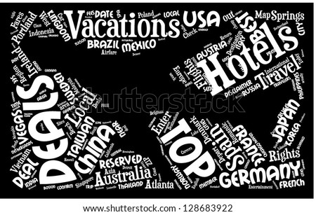 Travel the world word cloud - stock vector