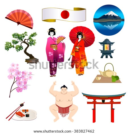 travel japan sunrise over mount fuji stock vector 310352570 shutterstock. Black Bedroom Furniture Sets. Home Design Ideas