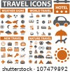 travel & tourism icons set, vector - stock vector