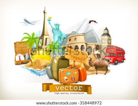Travel, vector illustration - stock vector