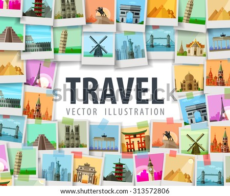 travel vector logo design template. trip or vacation icon - stock vector