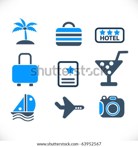 Travel Vector Signs - stock vector