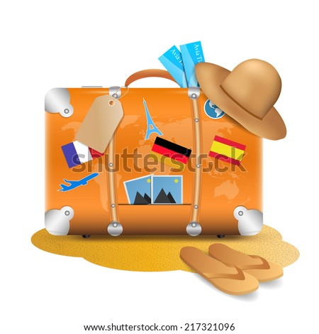 Traveling Accesories - stock vector
