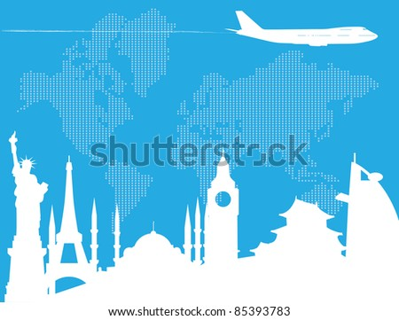 Traveling around the world - stock vector