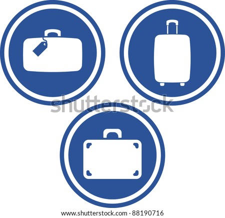 Traveling bags and luggage - Vector icons - stock vector