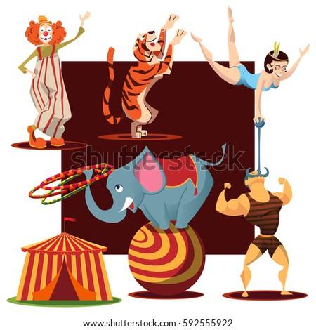 Circus acrobat cartoon - photo#34