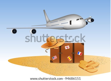 Traveling Illustration - stock vector