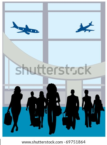 Traveling people - stock vector