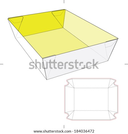 paper food tray template - fast food package stock images royalty free images
