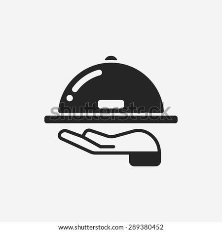 Tray icon - stock vector