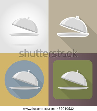tray with lid objects and equipment for the food vector illustration isolated on background