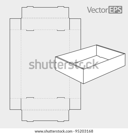 Tray with side panels - stock vector