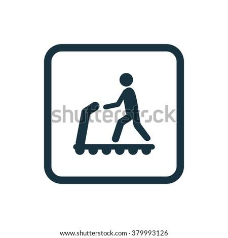 Treadmill Icon Vector. Treadmill Icon Art. Treadmill Icon Picture. Treadmill Icon Image. Treadmill Icon logo. Treadmill Icon Sign. Treadmill Icon Flat. Treadmill Icon design. Treadmill icon app - stock vector