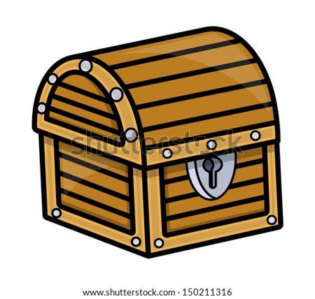 Treasure Box - Vector Cartoon Illustration - stock vector
