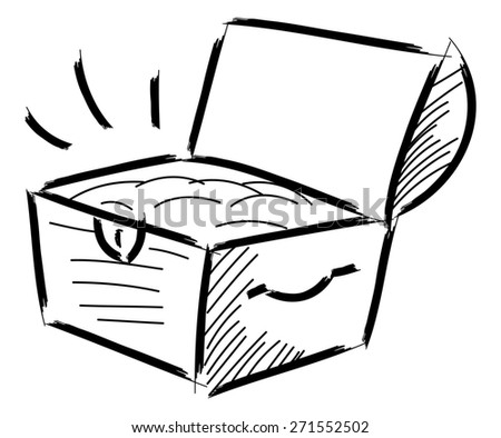 Treasure chest icon isolated on white background - stock vector