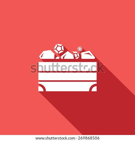 Treasure chest icon. Vector Illustration. - stock vector