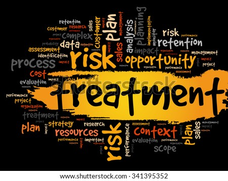 Treatment word cloud, business concept background - stock vector