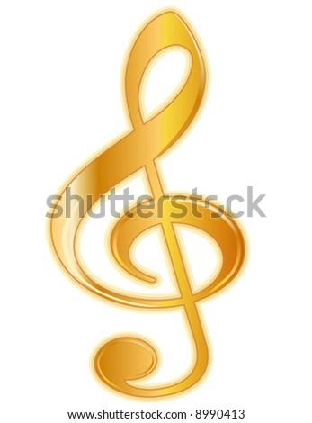 Treble Clef Golden Treble Clef Music Stock Vector Hd Royalty Free