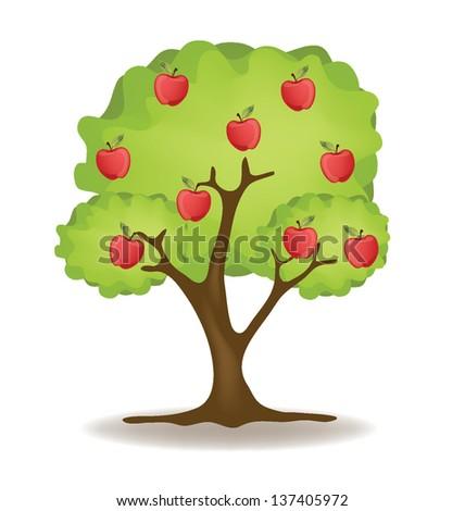 Tree apple vector illustration - stock vector