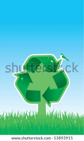 Tree as a Recycle Symbol (Recycle Arrows)