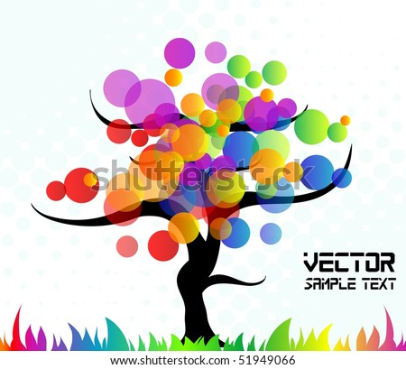 Tree background, vector