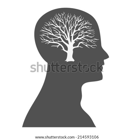 tree brain - stock vector