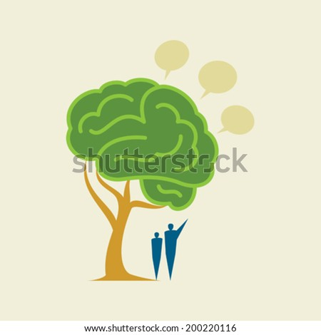 Tree Brain - Illustration - stock vector