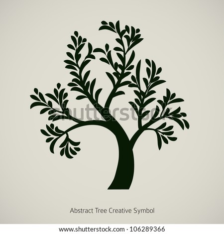 Tree branch vector silhouette graphic design - stock vector