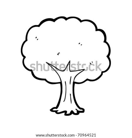 Tree Cartoon Stock Vector 70964521
