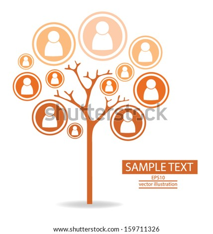 Tree. communication concept. connection. vector Illustration.
