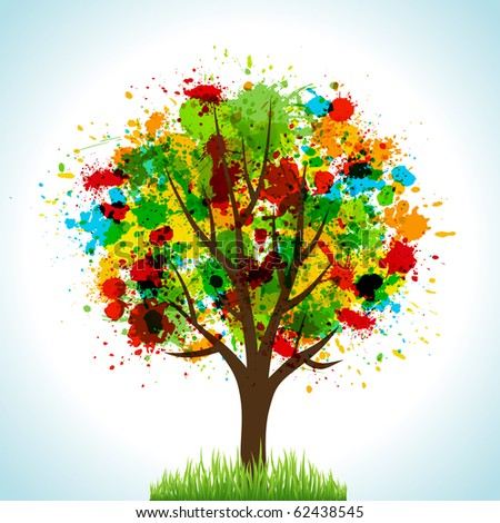 Tree. Concept vector illustration for your design. - stock vector