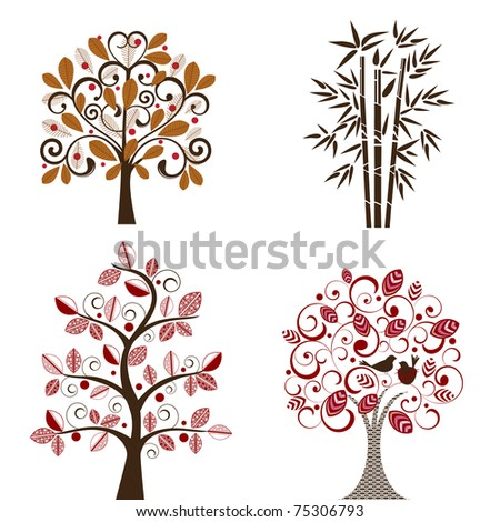 tree decals set 1