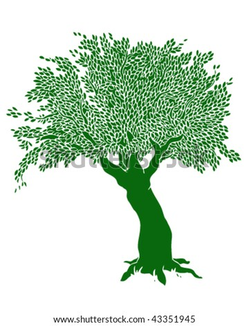 Tree Drawing - Vector Illustration - stock vector