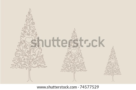 tree floral - stock vector