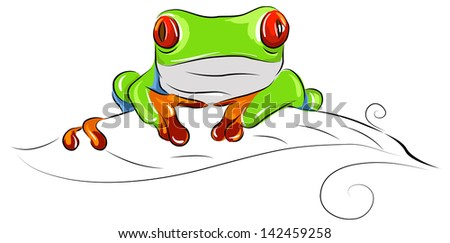 tree frog vector cartoon stock vector royalty free 142459258 rh shutterstock com tree frog silhouette vector red eyed tree frog vector